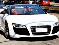 Neymar au volant de son Audi R8