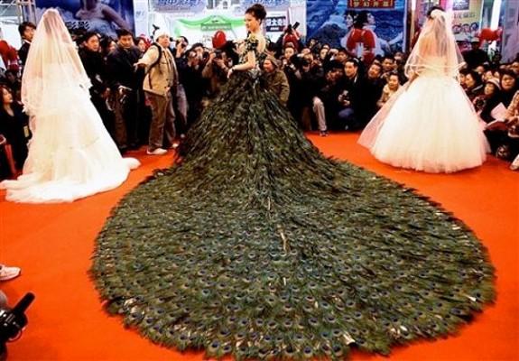 peacock-feather-wedding-dress